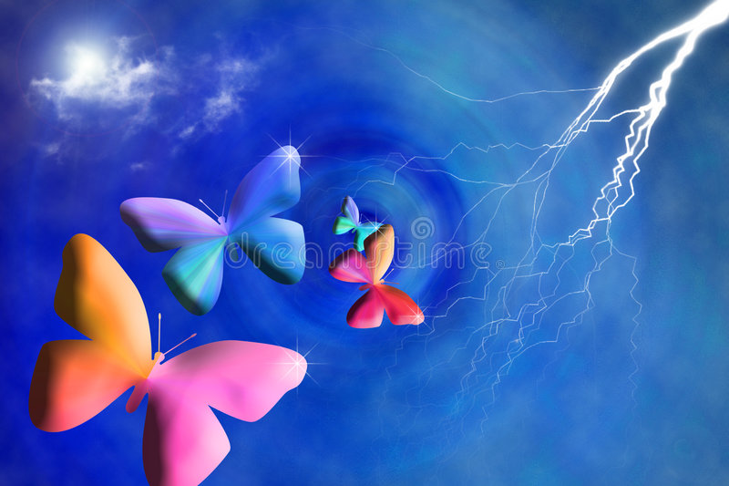 sztuka motyl ilustracja wektor