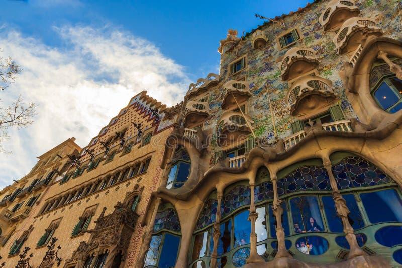 Sztuka Nouveau architektem Gaudi w Barcelona, Hiszpania fotografia stock