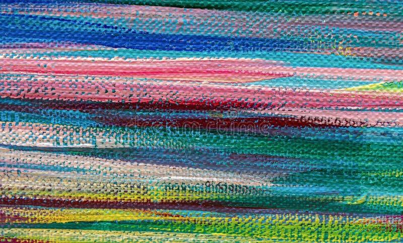 Sztuka obrazu abstrakcjonistyczne tekstury oliwią akrylowe farby obraz stock