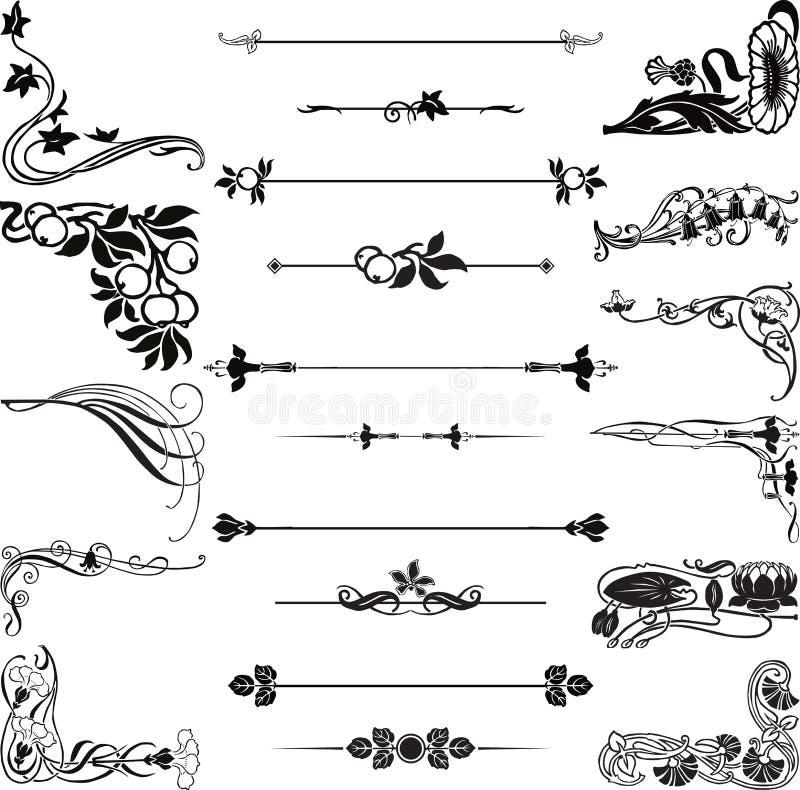 sztuka osacza dividers nouveau royalty ilustracja