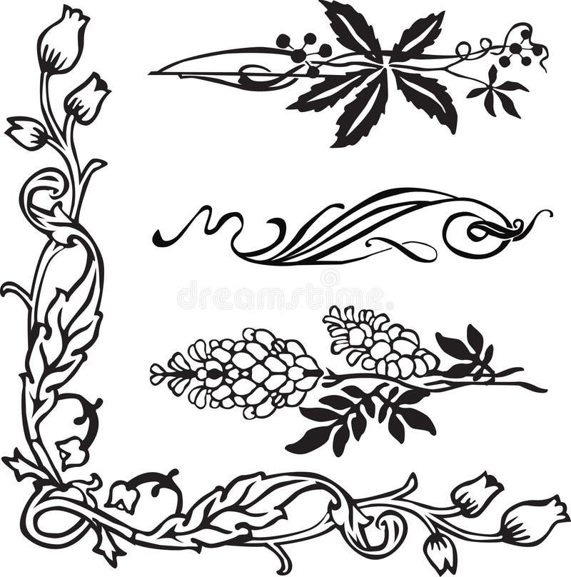 sztuka osacza dividers nouveau ilustracja wektor