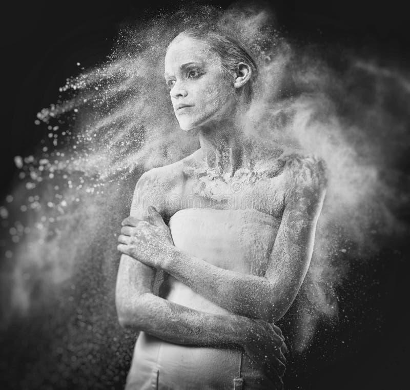 Sztuka portret piękno kobieta zdjęcia stock