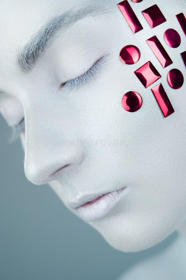 Sztuka projekta makeup zdjęcia stock