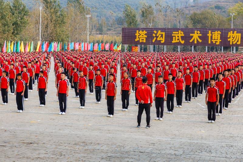 Sztuka Samoobrony szkoła Shaolin zdjęcie stock