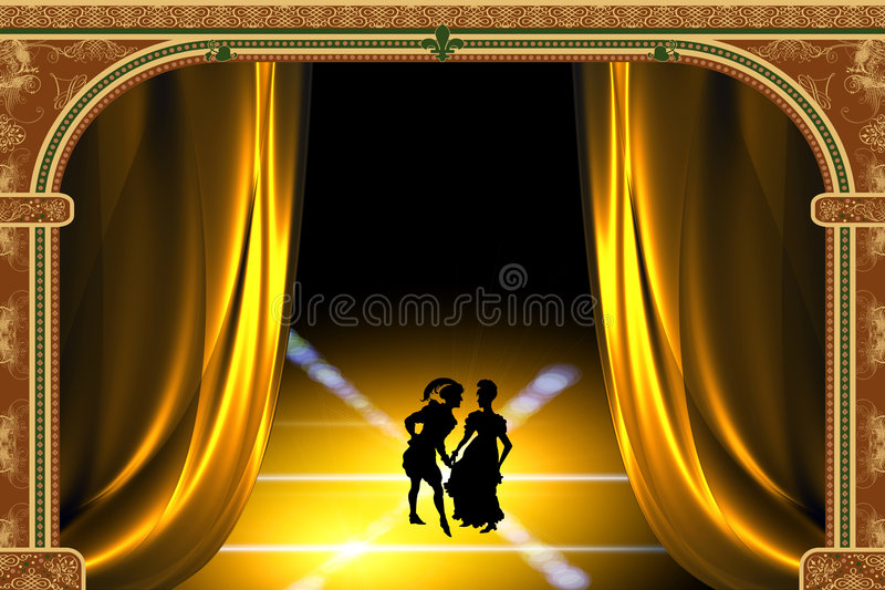 sztuka stylizowany teatr royalty ilustracja