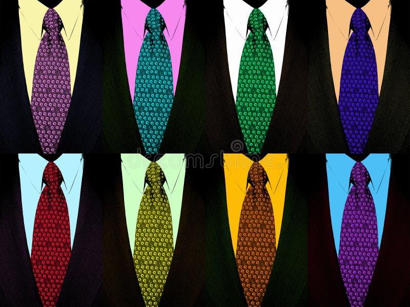 sztuka stylu pop garnitur krawat fotografia stock