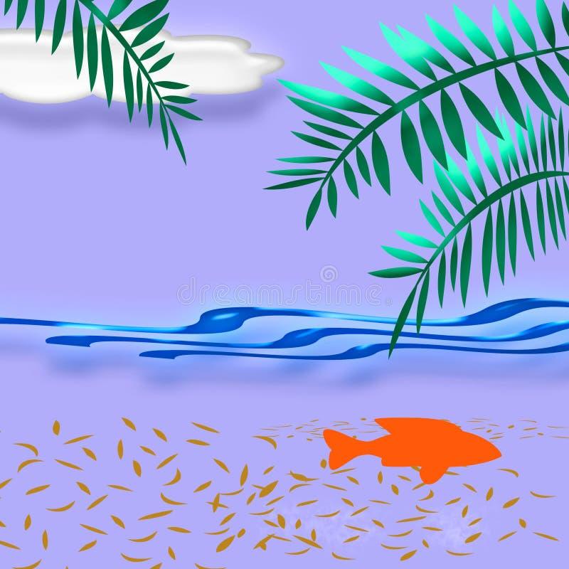 sztuka tropikalnych wakacji royalty ilustracja