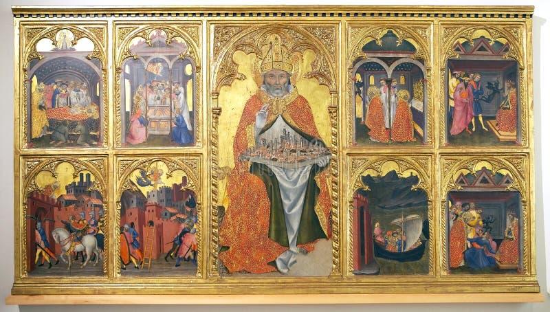 Sztuka w Włochy, tempera na drewnie obrazy stock