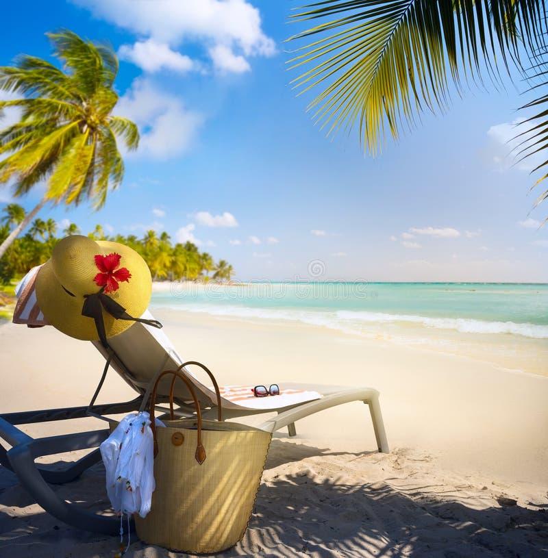 Sztuka wakacje na lato plaży zdjęcia stock