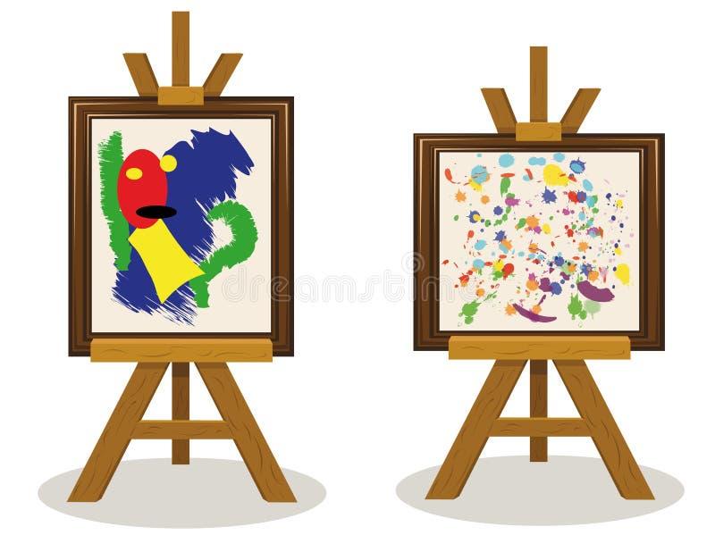 Sztuka Współczesna Kawałki 2 ilustracja wektor