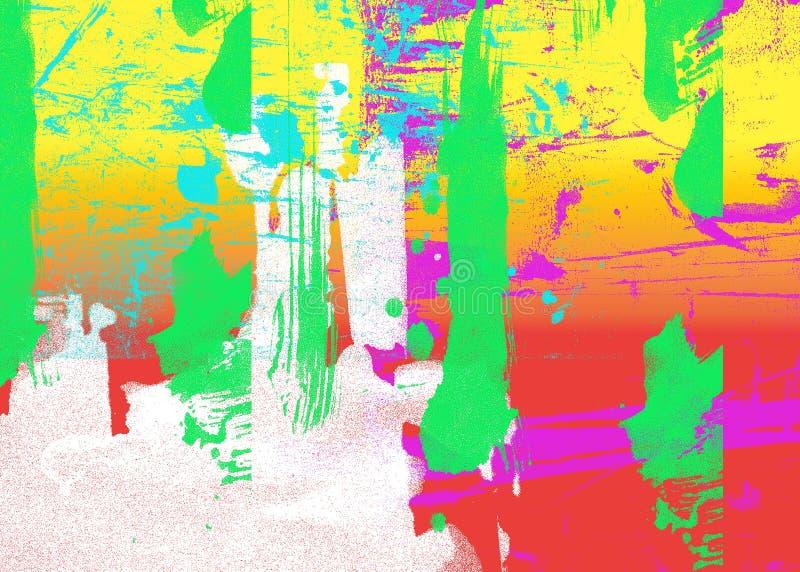 sztuki abstrakcjonistycznej szczegół ilustracja wektor