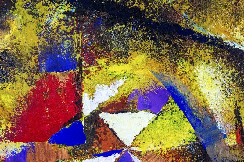 sztuki abstrakcjonistycznej tło Obraz olejny na kanwie ilustracja wektor