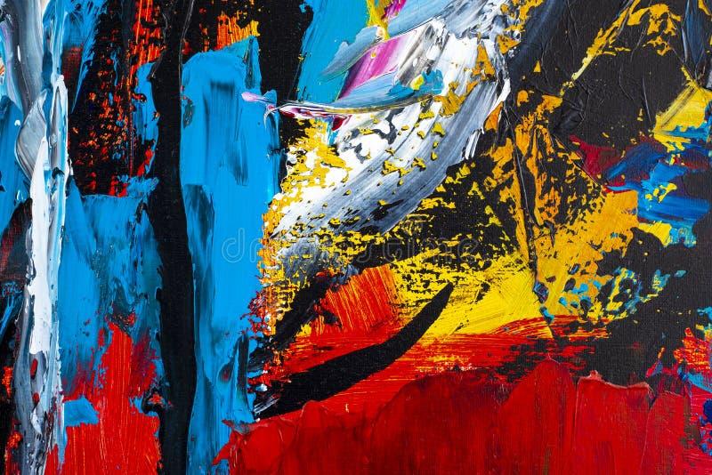 sztuki abstrakcjonistycznej tło Obraz olejny na kanwie Dekoracja, col royalty ilustracja