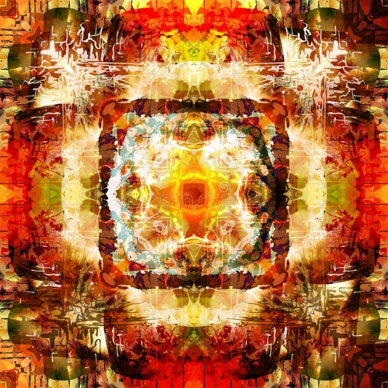 Sztuki Abstrakcjonistyczny Kolorowy tło royalty ilustracja