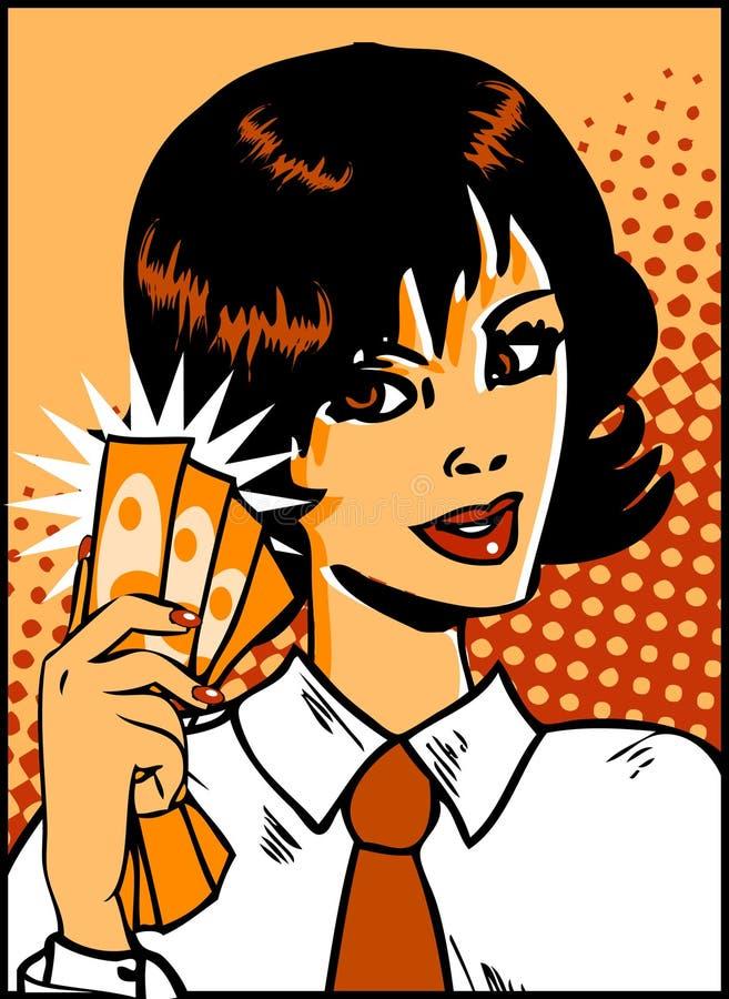 Download Sztuki Biznesowa Wystrzału Kobieta Ilustracji - Obraz: 17433712