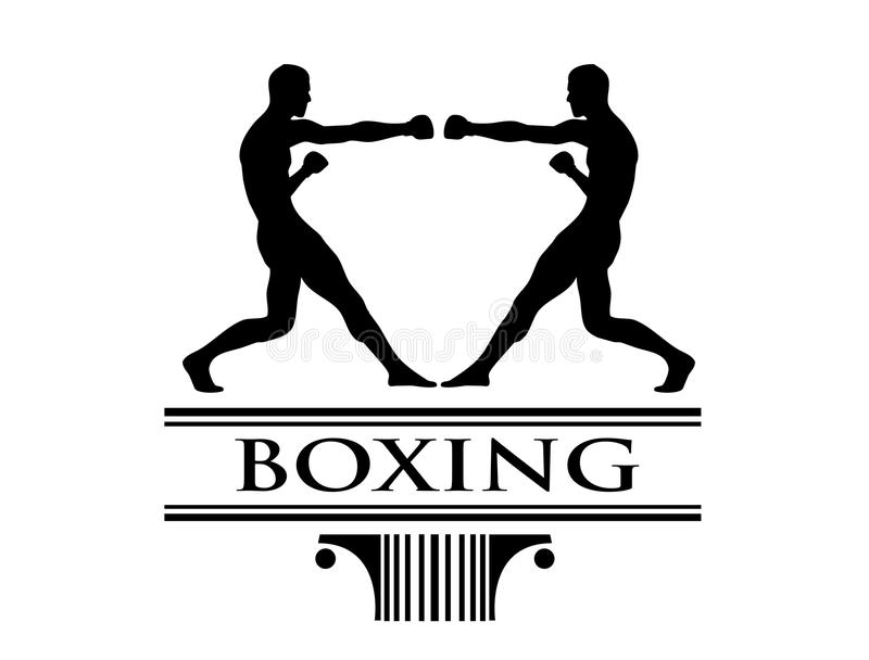 sztuki boxe klamerki loga turniej ilustracji
