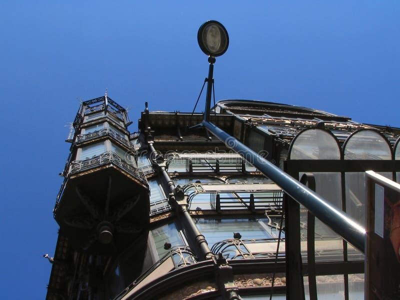 sztuki Brukseli nouveau fasad budynków zdjęcie royalty free