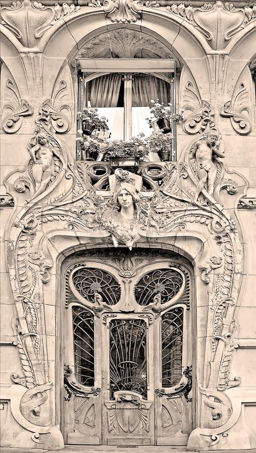 sztuki budynku nouveau zdjęcie royalty free