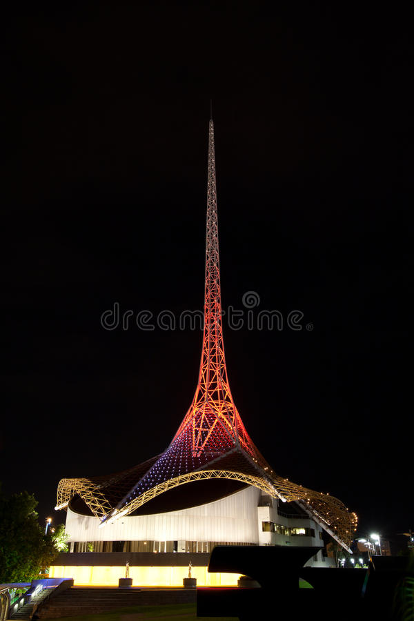 sztuki centre Melbourne fotografia stock
