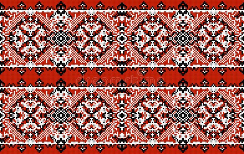 sztuki ceramiczny ludowy ornamentu garncarstwa ukrainian Tradycyjnego obywatela upiększony bezszwowy wzór struktura abstrakcyjna ilustracja wektor