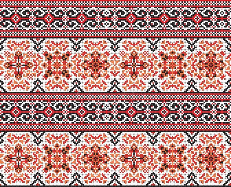 sztuki ceramiczny ludowy ornamentu garncarstwa ukrainian Tradycyjny obywatel ilustracji