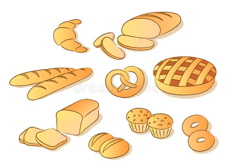 sztuki chlebowa clip royalty ilustracja