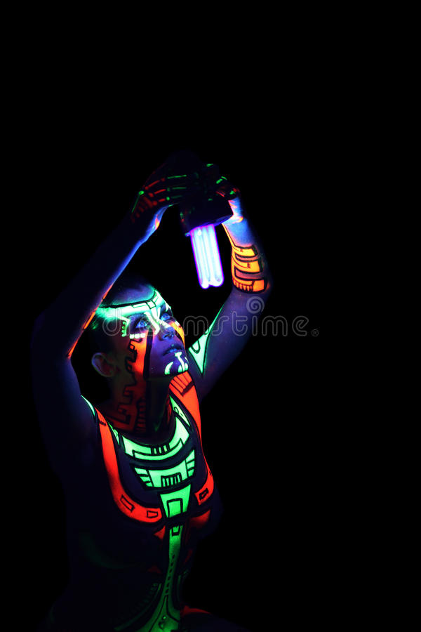 sztuki ciała neon obraz stock