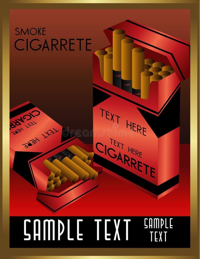 sztuki cigarrete deco wektor ilustracja wektor
