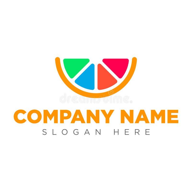 Sztuki cytryny ikony logo Sztuki ikony pomarańczowy logo obraz royalty free