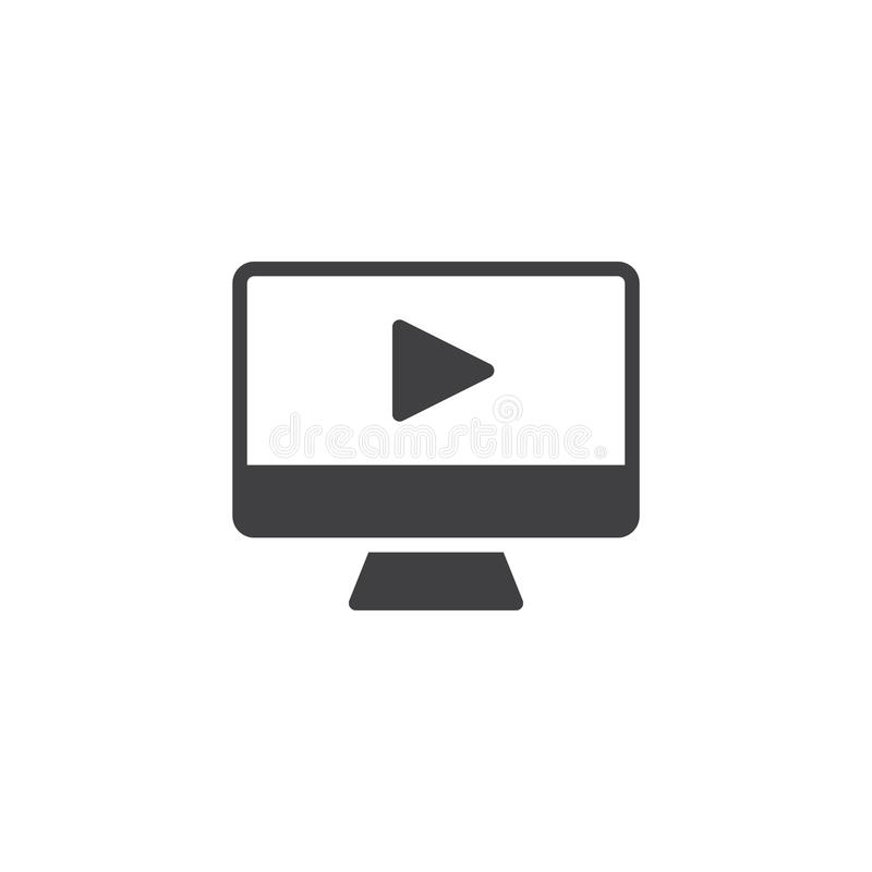 Sztuki desktop wektoru wideo ikona ilustracji