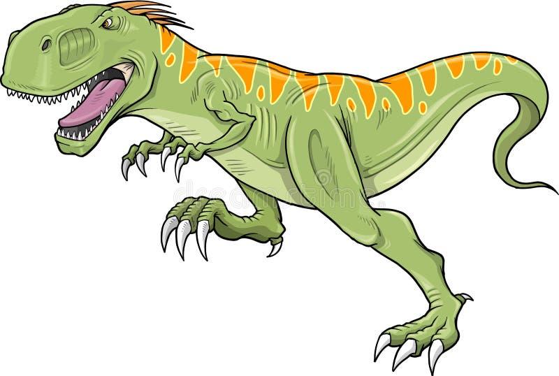 sztuki dinosaura tyrannosaurus wektor ilustracja wektor