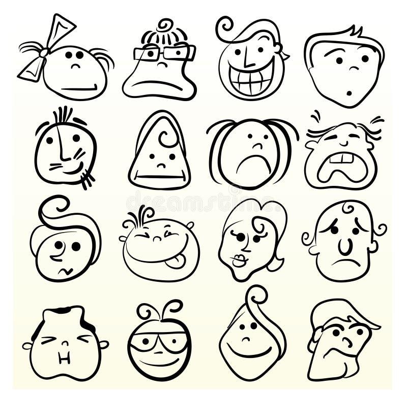 sztuki doodle emocja ilustracja wektor
