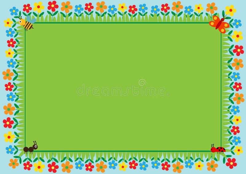 sztuki dzieciństwa ramy szczęśliwy ilustracyjny dzieciaków miejsca próbki teksta wektor ilustracji