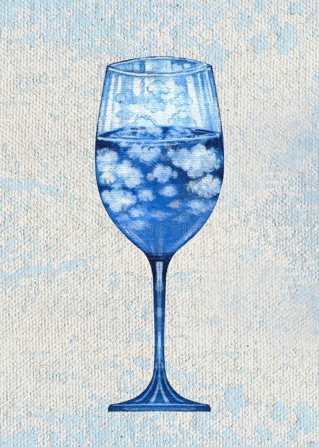 Sztuki fantazi Jeden wina Surrealistyczny szkło ilustracji