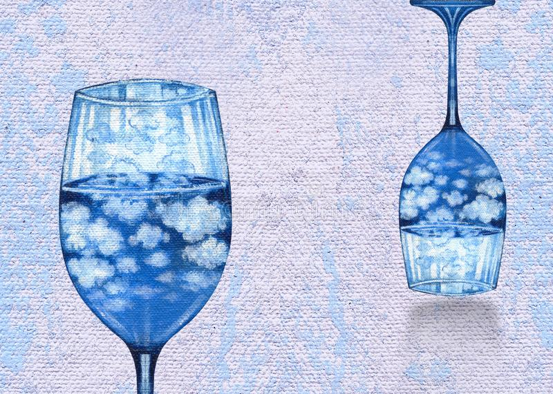Sztuki fantazi wina Surrealistyczny szkło ilustracja wektor