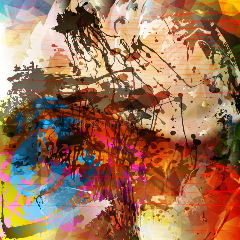 Sztuki Grunge rocznik Textured tło ilustracji