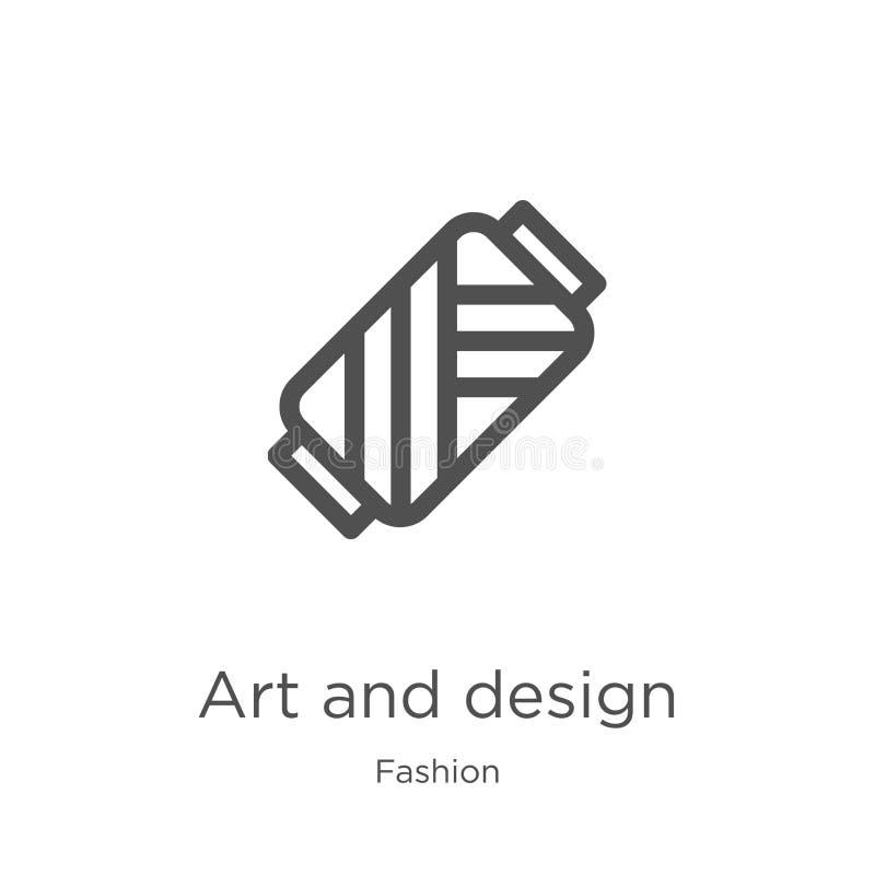 sztuki i projekta ikony wektor od mody kolekcji Cienieje kreskową sztukę i projektuje kontur ikony wektoru ilustrację Kontur, cie royalty ilustracja