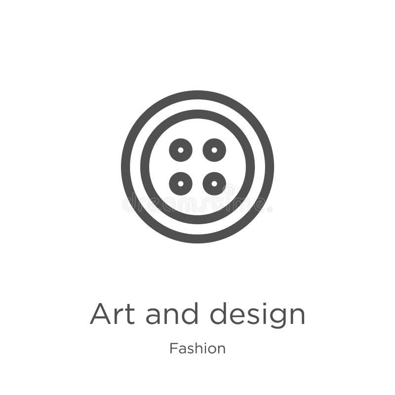 sztuki i projekta ikony wektor od mody kolekcji Cienieje kreskow? sztuk? i projektuje kontur ikony wektoru ilustracj? Kontur, cie royalty ilustracja