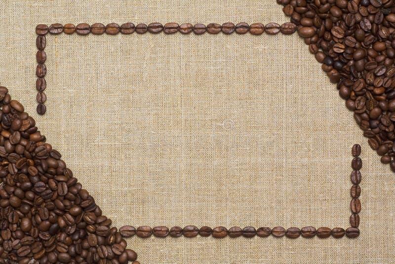 sztuki kawy rama obrazy stock