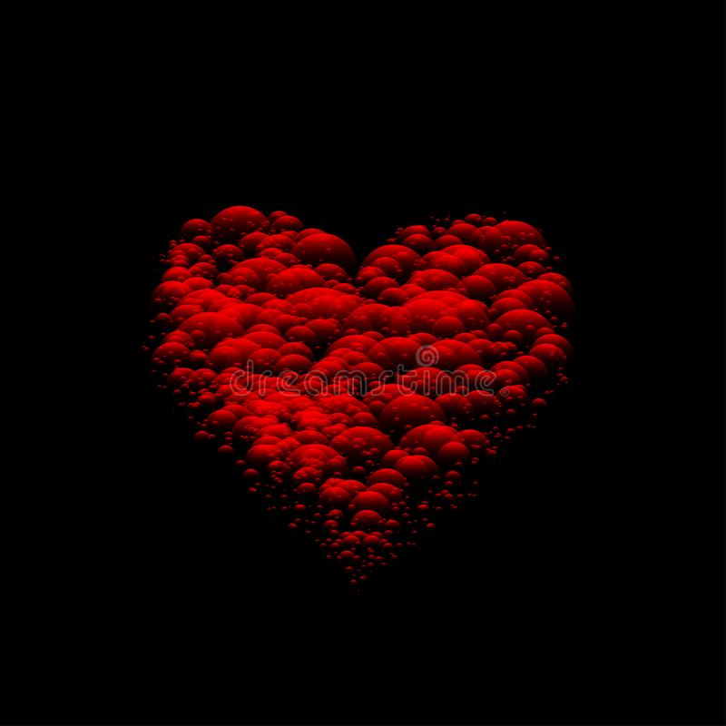sztuki kierowy czerwony valentine wektor ilustracji