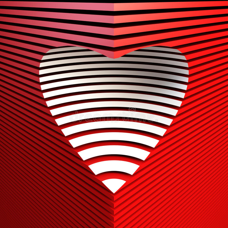sztuki kierowy czerwony valentine wektor royalty ilustracja