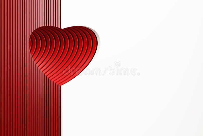 sztuki kierowy czerwony valentine wektor ilustracja wektor