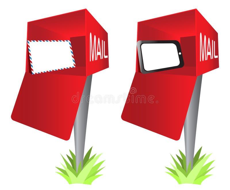 sztuki klamerki kopertowa skrzynka pocztowa ochraniacza komputeru osobisty pastylka ilustracja wektor
