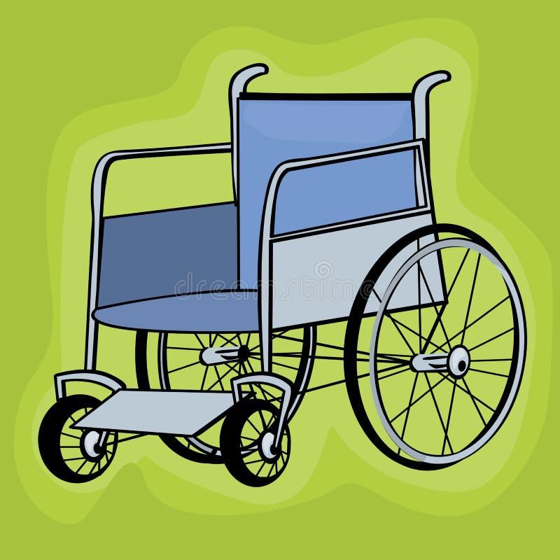 sztuki klamerki wózek inwalidzki royalty ilustracja