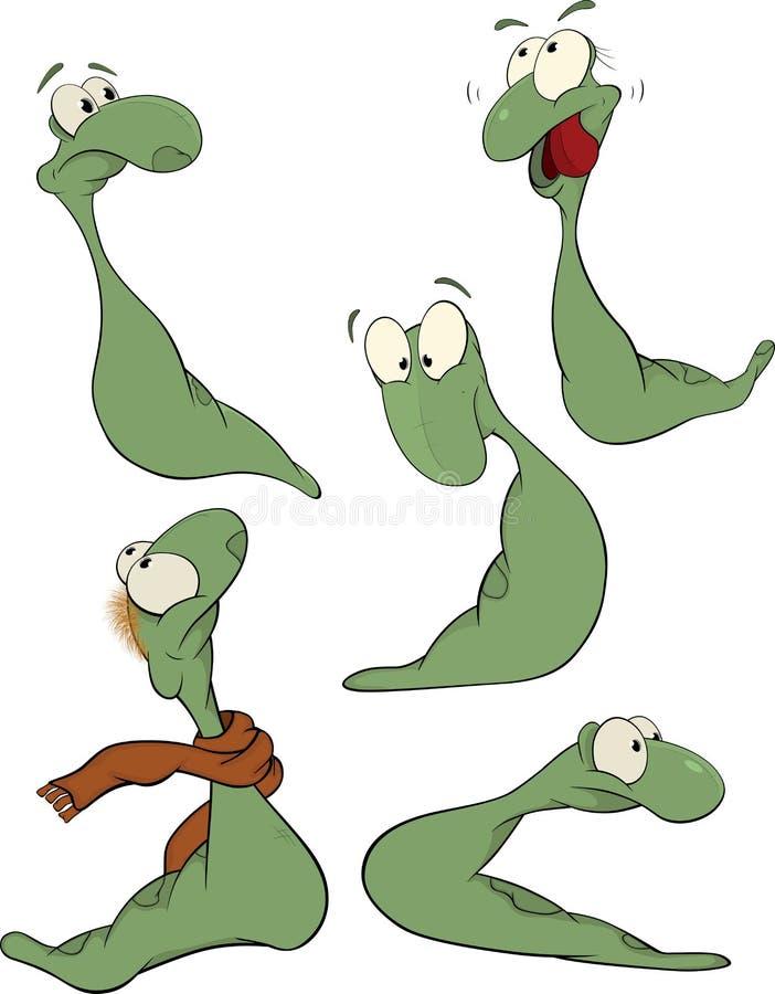 sztuki klamerki zieleni dżdżownica ilustracja wektor