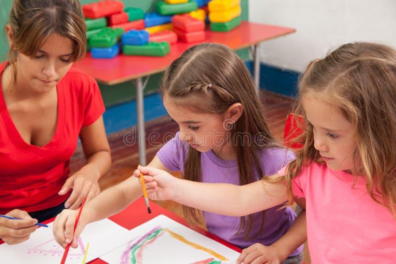 Sztuki klasa w dziecinu obraz stock