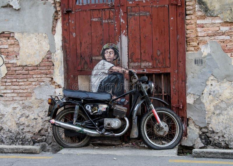sztuki kolorowa zakrywająca graffiti ulicy ściana obraz royalty free