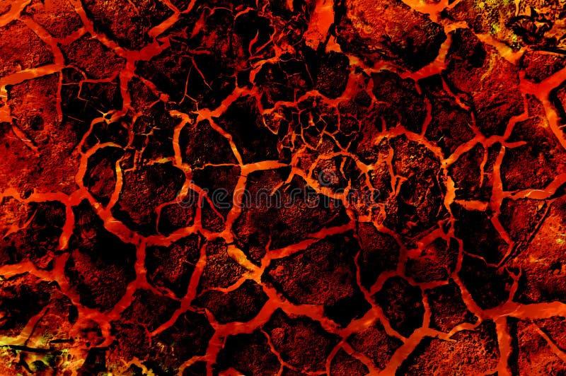Sztuki lawy ogienia abstrakta gorący wzór ilustracji