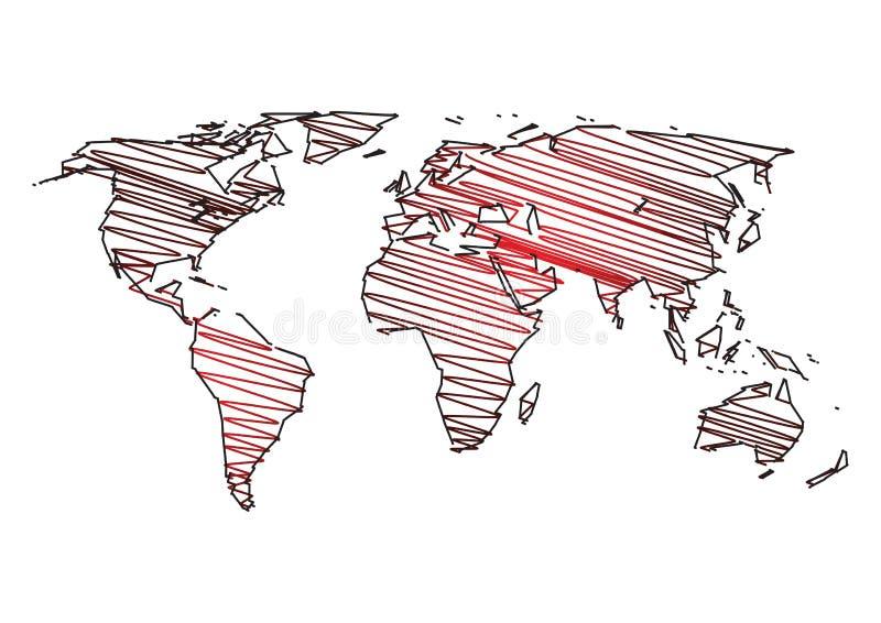 sztuki mapy świat royalty ilustracja