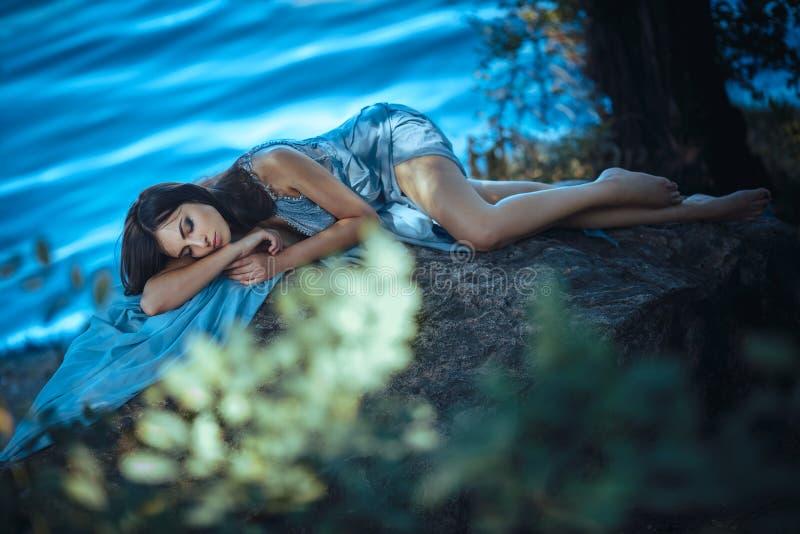 Sztuki mody modela dziewczyny portret obrazy stock